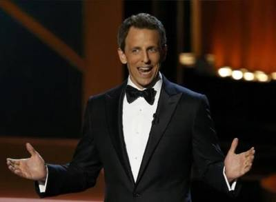 News video: Seth Meyers Accepts ALS Ice Bucket Challenge Immediately After The Emmys End